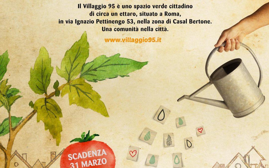 ROMA, GLI ORTI SOCIALI DEL VILLAGGIO 95
